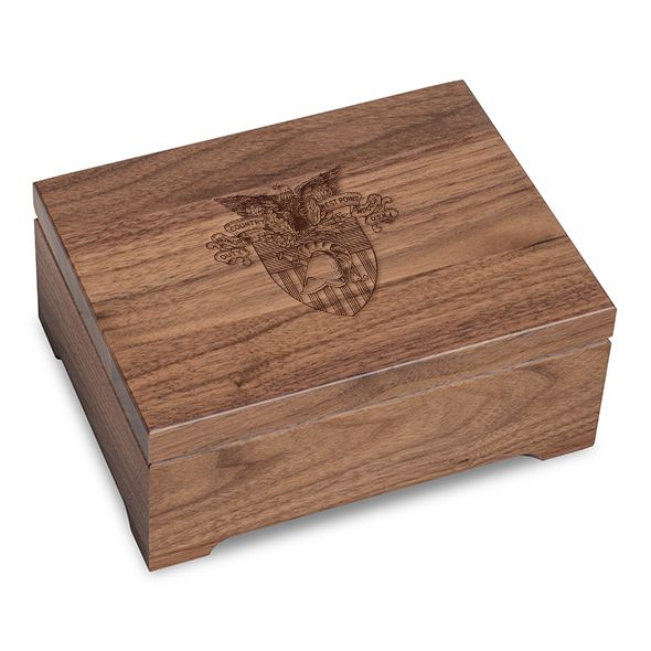 US Military Academy Solid Walnut Desk Box - Image 1
