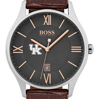 University of Kentucky Men's BOSS Classic with Leather Strap from M.LaHart