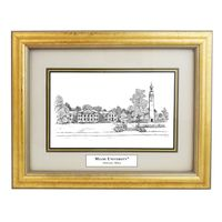 Miami University Black Ink Gold Frame