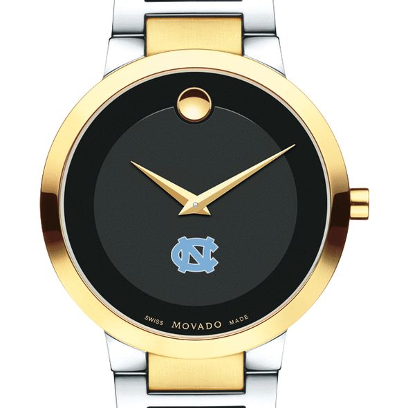 University of North Carolina Men's Movado Two-Tone Modern Classic Museum with Bracelet