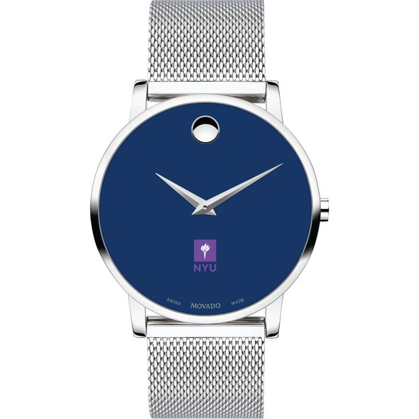 New York University Men's Movado Museum with Blue Dial & Mesh Bracelet - Image 2