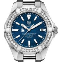 Ball State Women's TAG Heuer 35mm Steel Aquaracer with Blue Dial