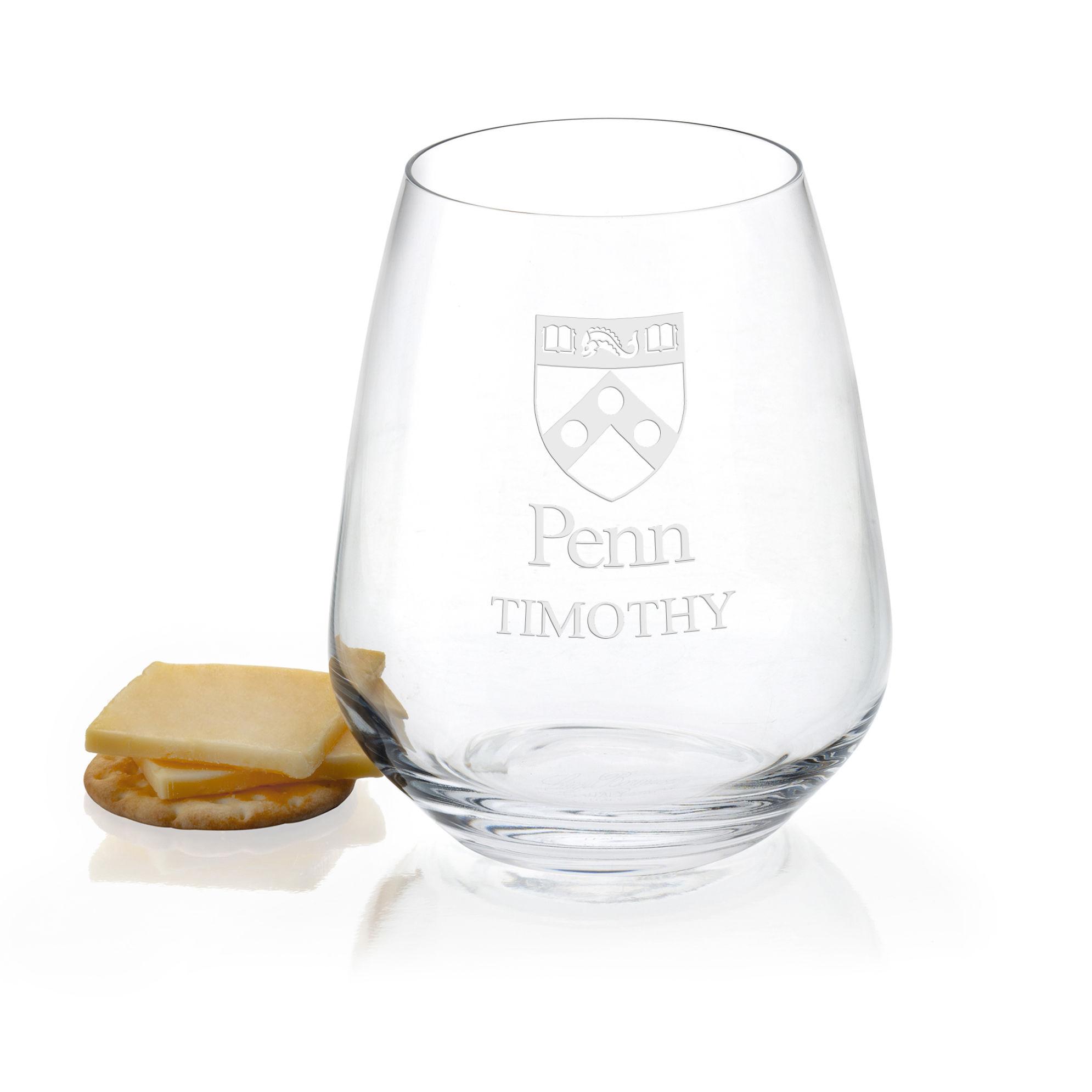 University of Pennsylvania Stemless Wine Glasses - Set of 2