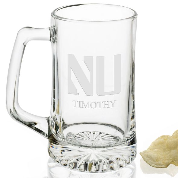 Northwestern 25 oz Glass Stein - Image 2
