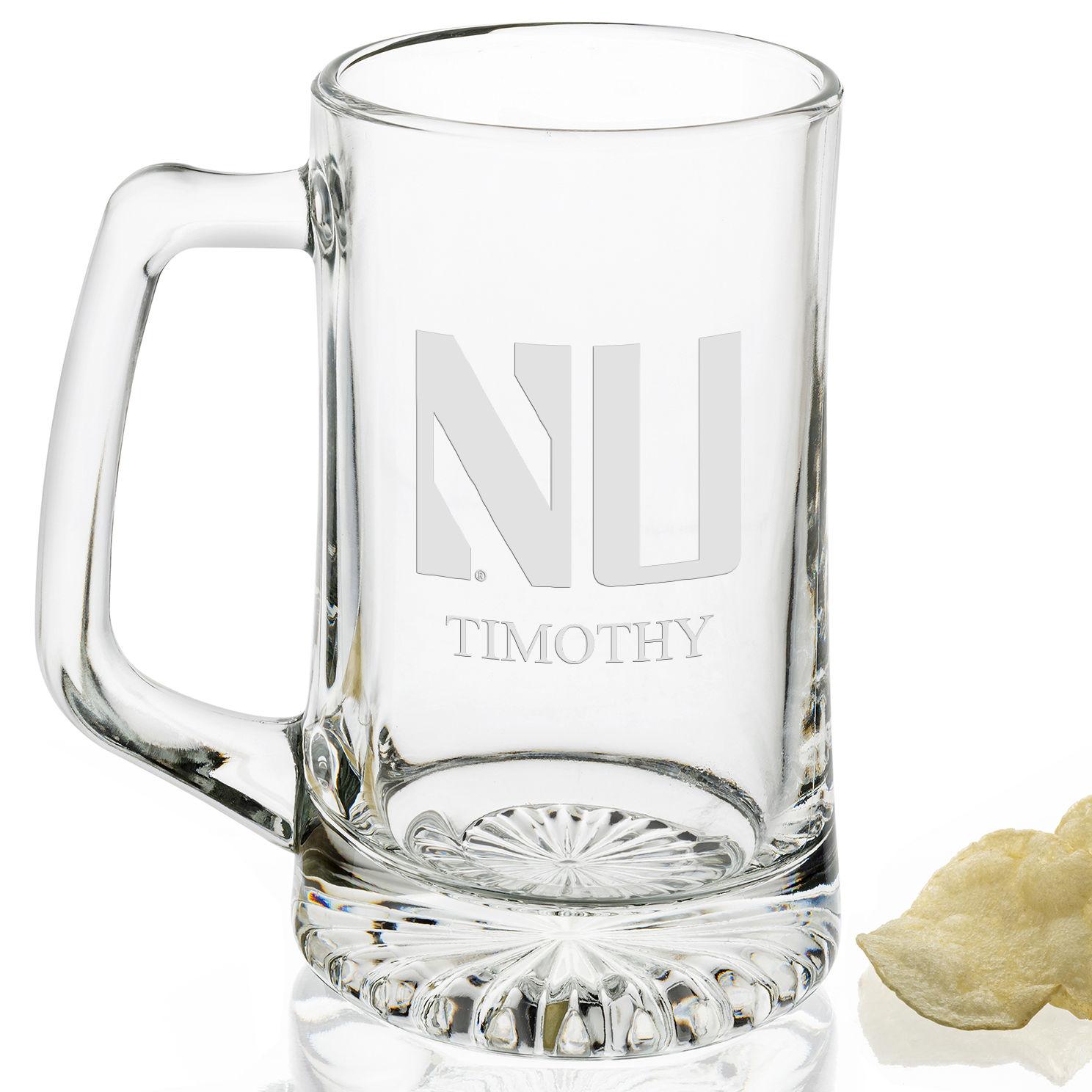 Northwestern 25 oz Glass Stein - Image 2