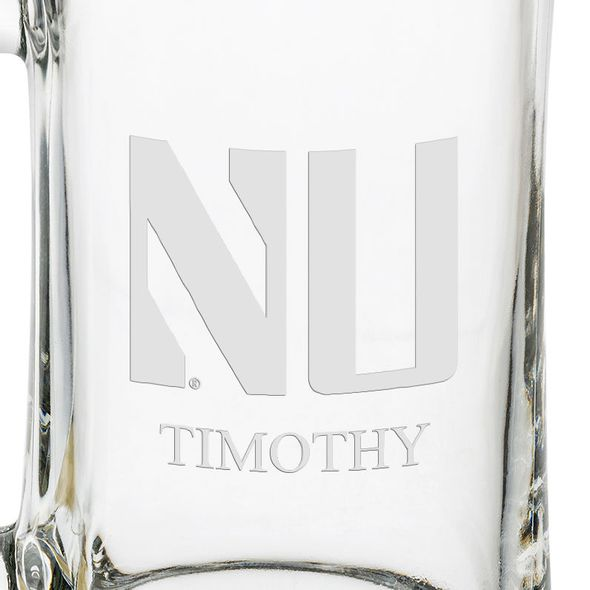 Northwestern 25 oz Glass Stein - Image 3