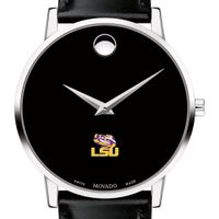 Louisiana State University Men's Movado Museum with Leather Strap