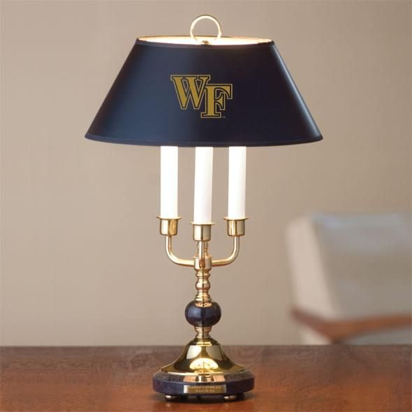 Wake Forest University Lamp in Brass & Marble