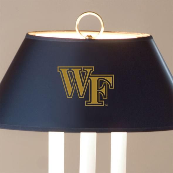 Wake Forest University Lamp in Brass & Marble - Image 2
