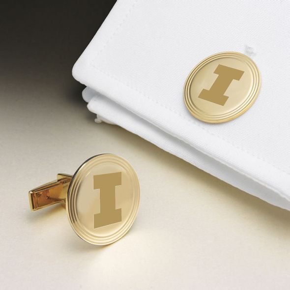 University of Illinois 18K Gold Cufflinks - Image 1