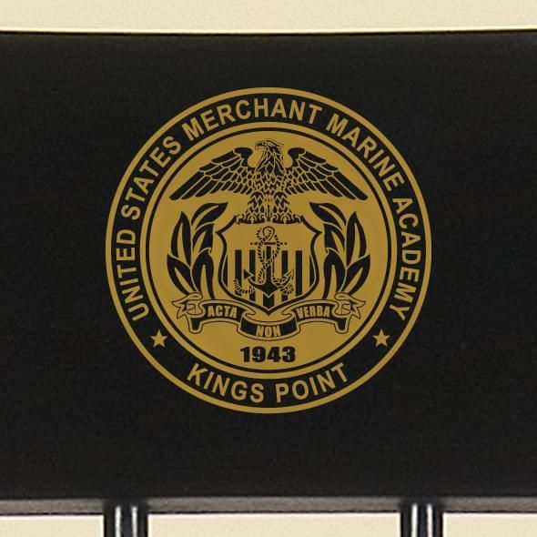 Hand-painted US Merchant Marine Academy Campus Chair by Hitchcock - Image 2