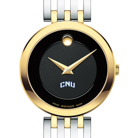 Christopher Newport University Women's Movado Esparanza Two-Tone Museum with Bracelet
