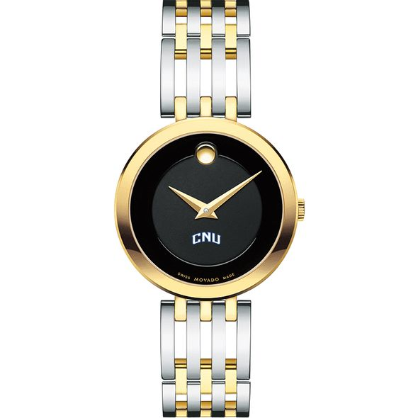 Christopher Newport University Women's Movado Esparanza Two-Tone Museum with Bracelet - Image 2