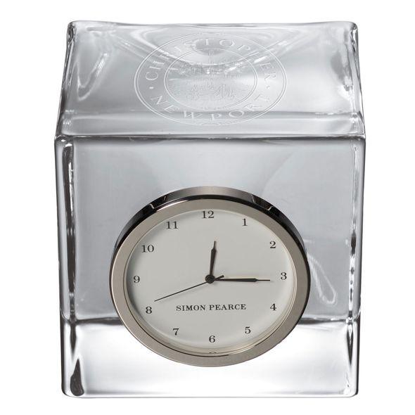 Christopher Newport University Glass Desk Clock by Simon Pearce - Image 2