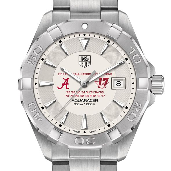 Alabama Crimson Tide 2017 National Championship Men's TAG Heuer Steel Aquaracer - Image 1