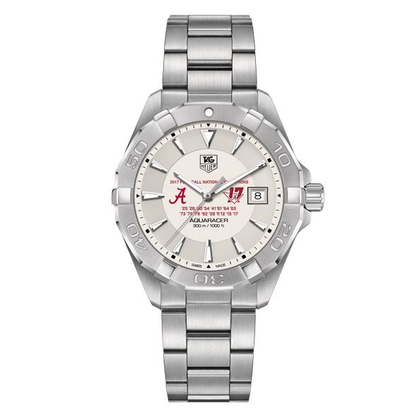 Alabama Crimson Tide 2017 National Championship Men's TAG Heuer Steel Aquaracer - Image 2