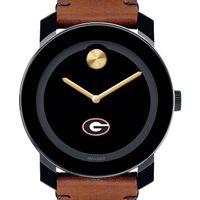 University of Georgia Men's Movado BOLD with Brown Leather Strap