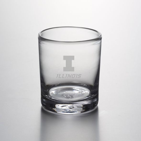 University of Illinois Double Old Fashioned Glass by Simon Pearce