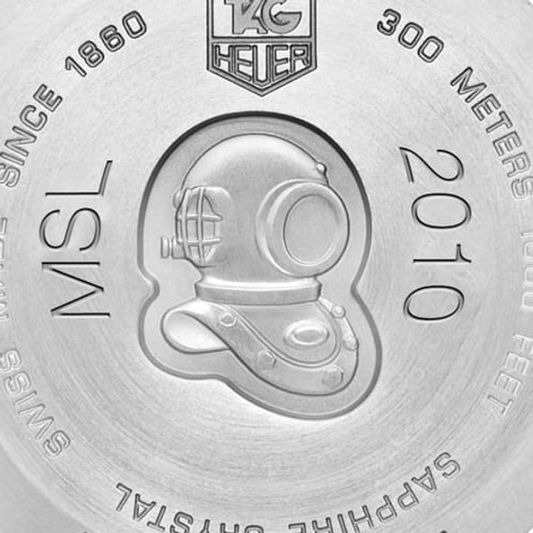 Sigma Phi Epsilon Men's TAG Heuer Steel Aquaracer with Black Dial - Image 3