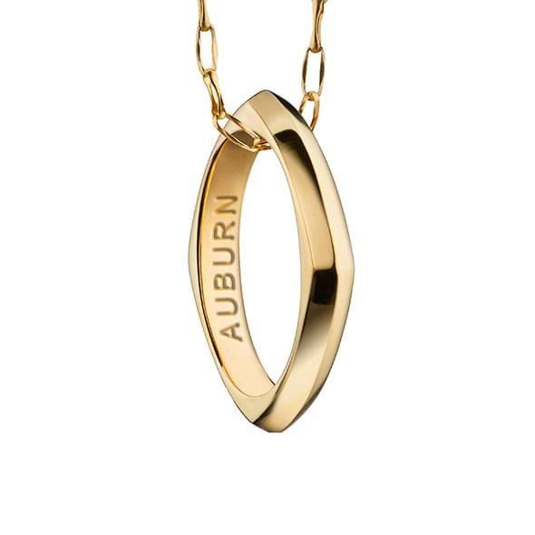 Auburn Monica Rich Kosann Poesy Ring Necklace in Gold