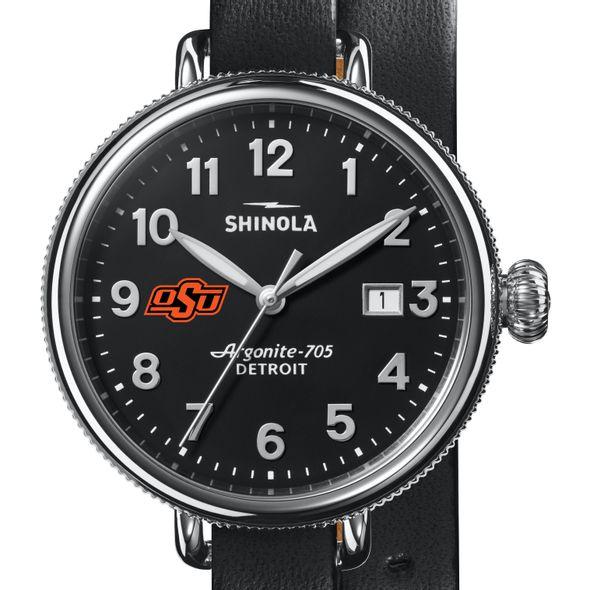Oklahoma State Shinola Watch, The Birdy 38mm Black Dial - Image 1