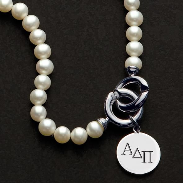 Alpha Delta Pi Pearl Necklace with Sterling Charm - Image 2