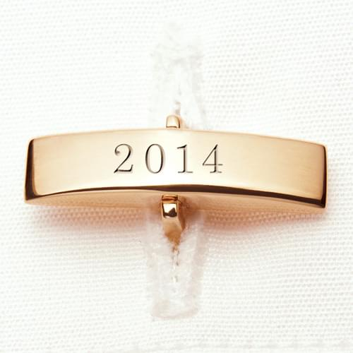 Brown 14K Gold Cufflinks - Image 3