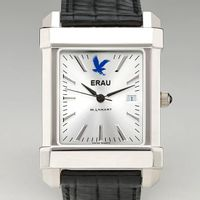 Embry-Riddle Men's Collegiate Watch with Leather Strap