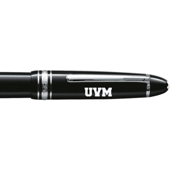 University of Vermont Montblanc Meisterstück LeGrand Rollerball Pen in Platinum - Image 2
