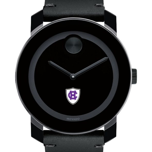 Holy Cross Men's Movado BOLD with Leather Strap