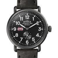 MS State Shinola Watch, The Runwell 41mm Black Dial