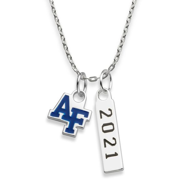 2021 US Air Force Academy Sterling Silver Necklace with Two Charms - Image 1