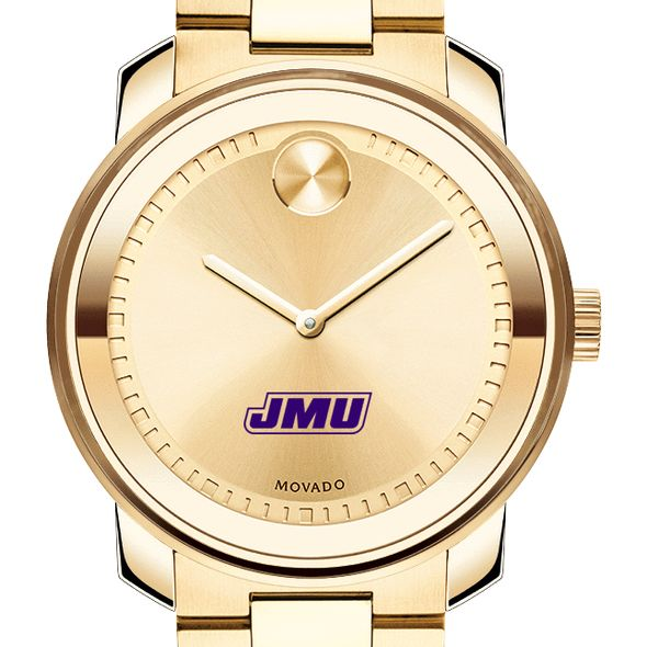 James Madison University Men's Movado Gold Bold