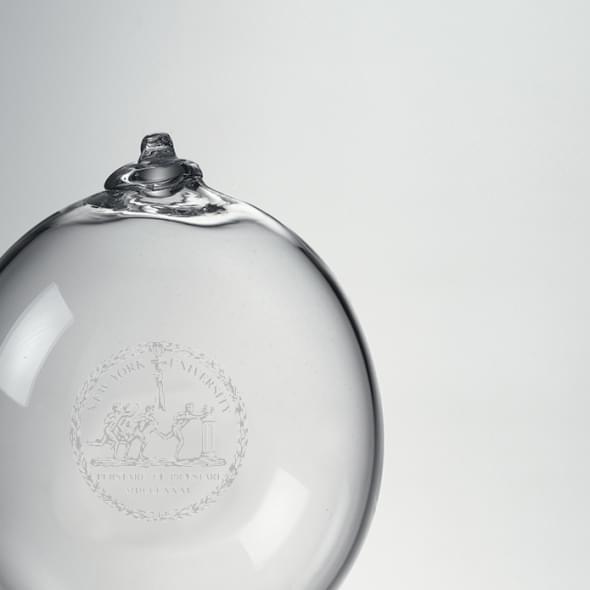 NYU Glass Bauble Ornament by Simon Pearce - Image 2