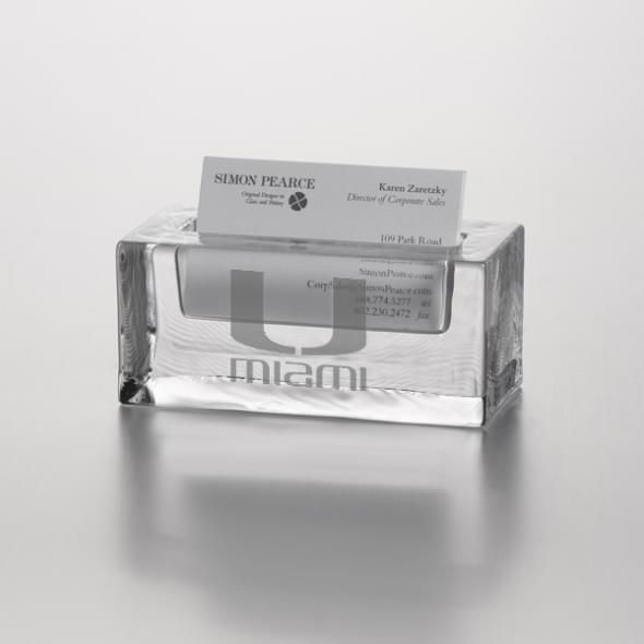 Miami Glass Business Cardholder by Simon Pearce - Image 1