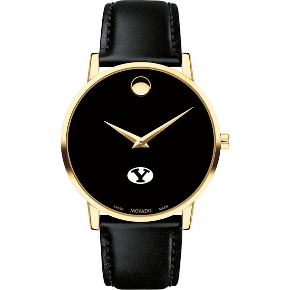 Brigham Young University Men's Movado Gold Museum Classic Leather - Image 2