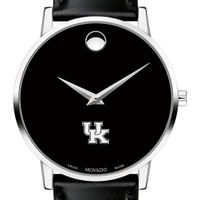 University of Kentucky Men's Movado Museum with Leather Strap