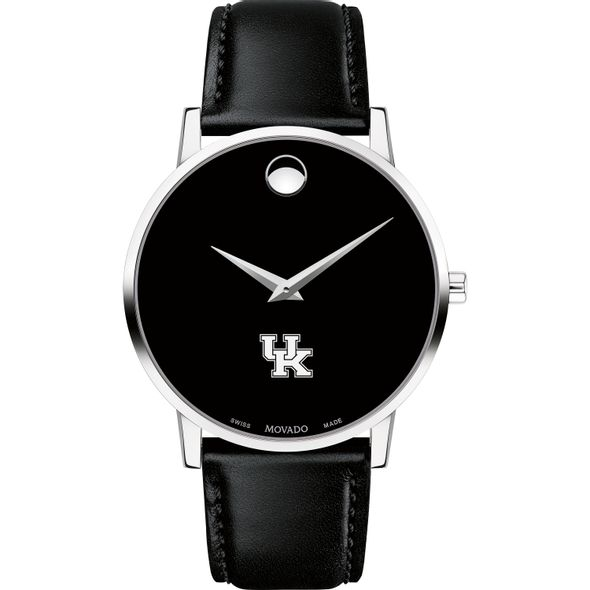 University of Kentucky Men's Movado Museum with Leather Strap - Image 2