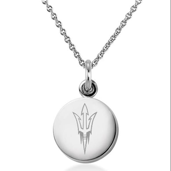 Arizona State Necklace with Charm in Sterling Silver