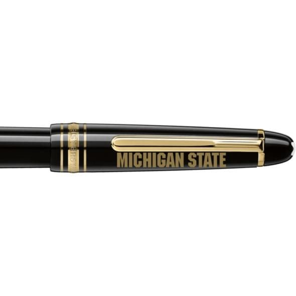 Michigan State University Montblanc Meisterstück Classique Fountain Pen in Gold - Image 2