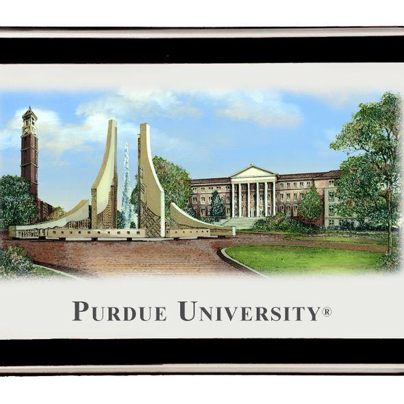 Purdue University Eglomise Paperweight - Image 2