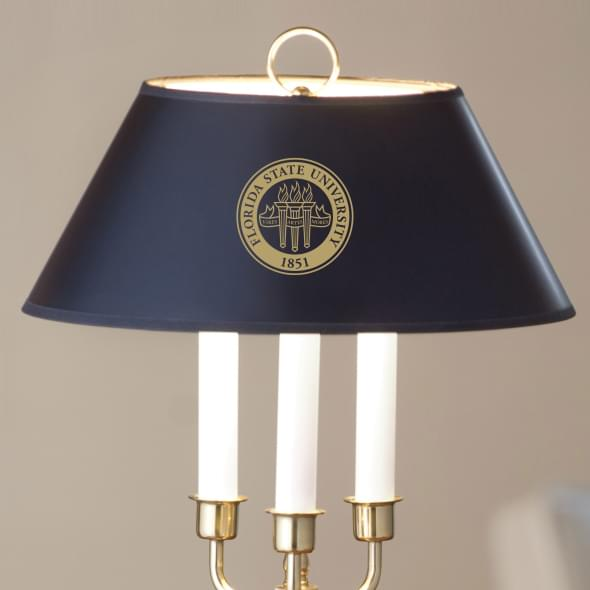 Florida State University Lamp in Brass & Marble - Image 2