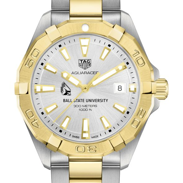 Ball State Men's TAG Heuer Two-Tone Aquaracer - Image 1