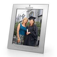 University of Illinois Polished Pewter 8x10 Picture Frame