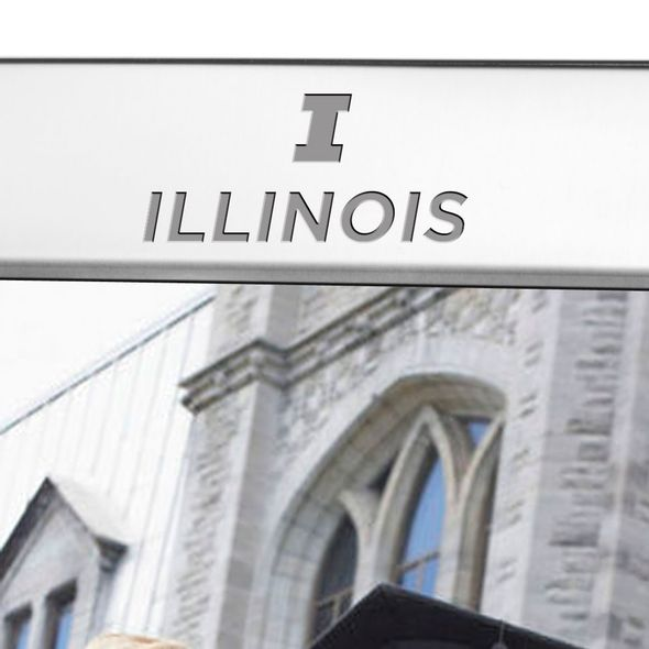 University of Illinois Polished Pewter 8x10 Picture Frame - Image 2