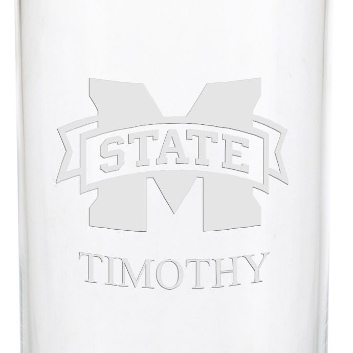 Mississippi State Iced Beverage Glasses - Set of 4 - Image 3