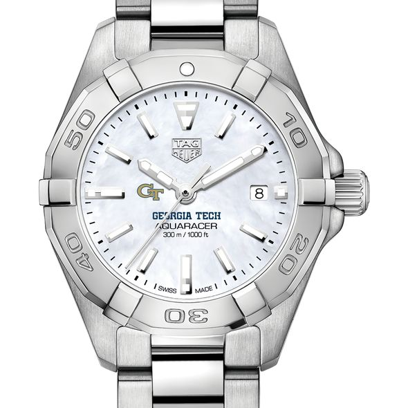Georgia Tech Women's TAG Heuer Steel Aquaracer w MOP Dial