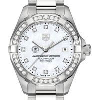 James Madison University W's TAG Heuer Steel Aquaracer with MOP Dia Dial & Bezel