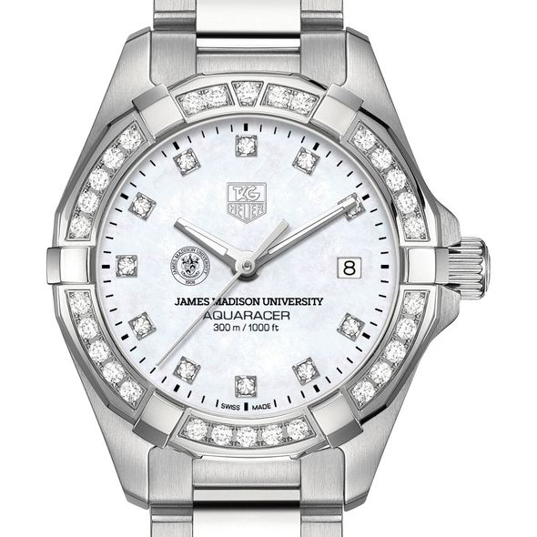 James Madison University W's TAG Heuer Steel Aquaracer with MOP Dia Dial & Bezel - Image 1