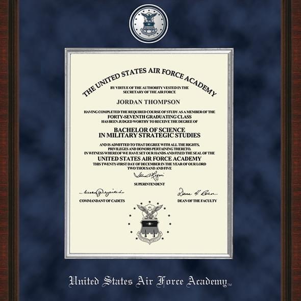 USAFA Excelsior Diploma Frame - Image 2